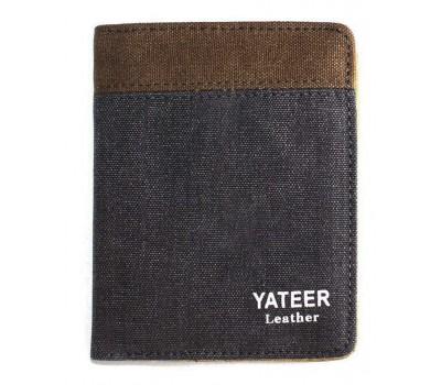 Портмоне YATEER Gray+Coffe