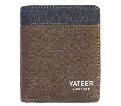 Портмоне YATEER Coffe+Gray
