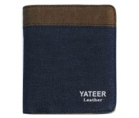 Портмоне YATEER Blue+Coffee